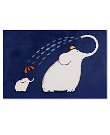 Trademark Global Carla Martell 'Umbrella Elephant' Canvas Art Print Collection