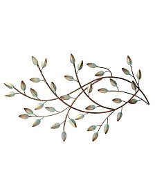 Stratton Home Decor Patina Blowing Leaves Wall Decor