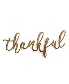 "Stratton Home Decor Bronze ""thankful"" Script Wall Decor"
