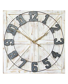 Stratton Home Decor Rustic Farmhouse Wall Clock