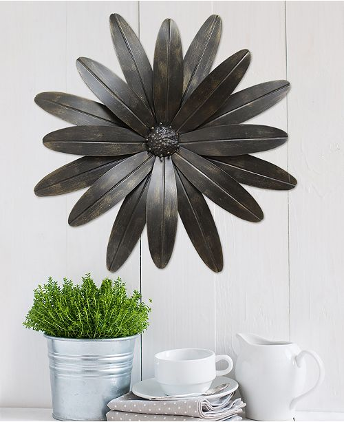 Stratton Home Decor Stratton Home Decor Industrial Flower Wall Decor