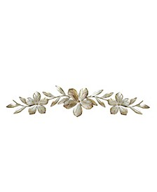 Stratton Home Decor Champagne Flower Over the Door Wall Decor