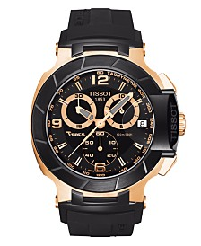 Tissot Men's Swiss Chronograph T-Race Black Rubber Strap Watch 50.26mmX45.3mm T0484172705706