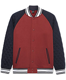 A|X Armani Exchange Men's Embroidered Varsity Jacket