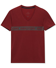 A|X Armani Exchange Men's Slim-Fit V-Neck T-Shirt