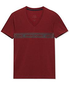 A|X Armani Exchange Men's Slim-Fit V-Neck T-Shirt