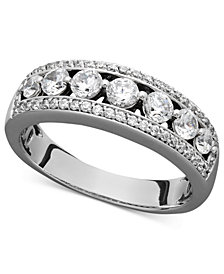 Certified Diamond Band Ring in 14k White Gold (1 ct. t.w.)