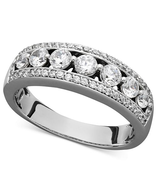 Macy's Certified Diamond Band Ring (1 ct. t.w.) in 14k White Gold