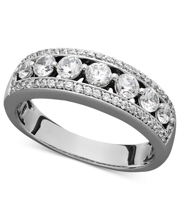 Macy's - Certified Diamond Band Ring in 14k White Gold (1 ct. t.w.)