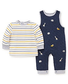 Little Me Baby Boys Jungle Overall Set