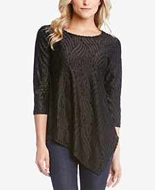 Karen Kane Velvet Burnout Asymmetric Top