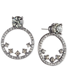 "Givenchy Crystal 4/5"" Drop Hoop Earring Jackets"