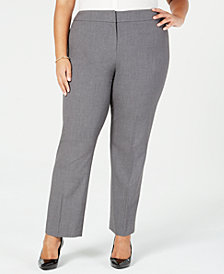 Nine West Plus Size Fly-Front Trousers