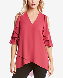 Karen Kane Cold-Shoulder Cross-Over Top