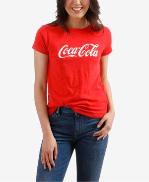 Cotton Coca Cola Graphic T-Shirt, Red