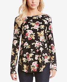 Karen Kane Long-Sleeve Floral-Print T-Shirt