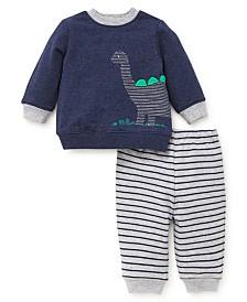 Little Me Baby Boys Dino Sweatshirt Set