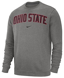 Men's Ohio State Buckeyes Cotton Club Crew Neck Sweatshirt