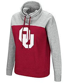 Colosseum Women's Oklahoma Sooners Logo Funnel Neck Hooded Sweatshirt
