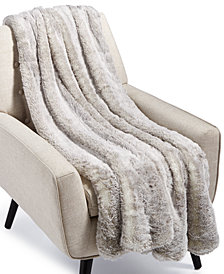 Hotel Collection Faux-Fur Throw, Created for Macy's