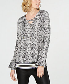 MICHAEL Michael Kors Lace-Up Tunic