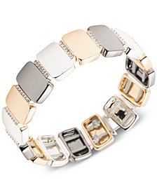 Nine West Tri-Tone Pavé Stretch Bracelet