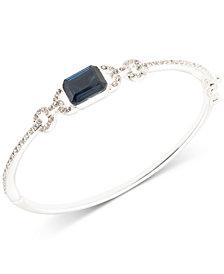 Lauren Ralph Lauren Silver-Tone Pavé & Stone Bangle Bracelet