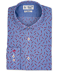 Original Penguin Men's Slim-Fit Stretch Pattern Dress Shirt