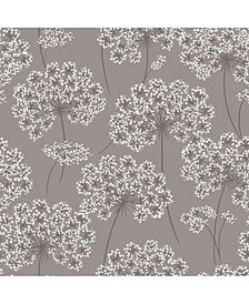Angelica Grey Peel and Stick Wallpaper