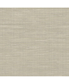 Wheat Grass cloth Peel and Stick Wallpaper