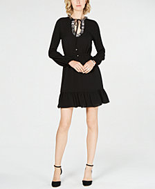 MICHAEL Michael Kors Embellished Ruffle-Hem Dress
