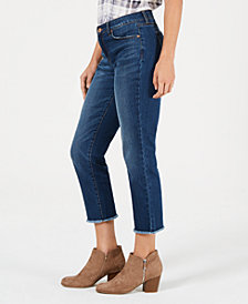 Style & Co High-Rise Cropped Curvy-Fit Straight-Leg Jeans, Created for Macy's