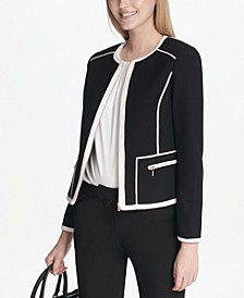 Piped-Trim Jacket