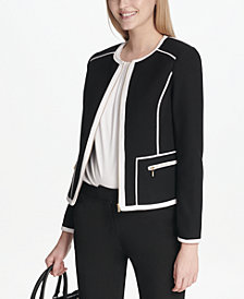 Calvin Klein Piped-Trim Jacket