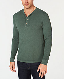 Club Room Men's Garment Dyed Henley, Created for Macy's
