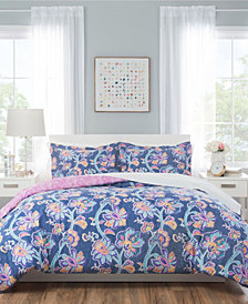 Nicole Miller Aurora Reversible Bedding 7-Piece Full/Queen Set