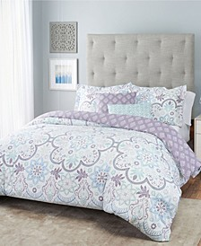 Blossom Floral Reversible Bedding 5-Piece Full/Queen Set
