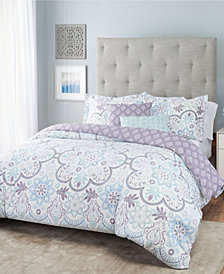Nicole Miller Blossom Floral Reversible Bedding 5-Piece Full/Queen Set