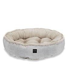 Nicole Miller Comfy Pooch Dog Bolster Bed Round Bolster Bed