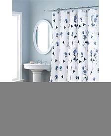 Nicole Miller Le Petite Fleur Printed Spring Cotton Shower Curtain