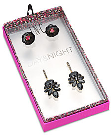 I.N.C. Day & Night Two-Tone 2-Pc. Set Stud and Drop Earrings, Created for Macy's