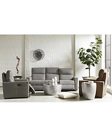 Clynton Fabric & Leather Power Reclining Sofa Collection