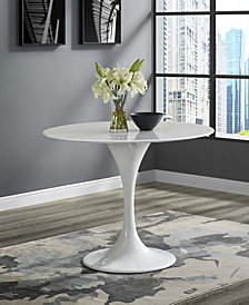 Lippa 40 Inch Round Fiberglass Dining Table