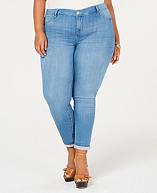 Celebrity Pink Plus Size Cuffed Ankle Jeans