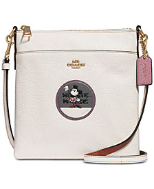 COACH Minnie Mouse Patch Messenger Crossbody in Pebble Leather