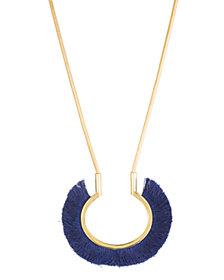 """Trina Turk 17"""" Fringe Pendant Necklace"""