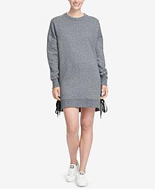 DKNY Sport Logo Lace-Up Sides Dress