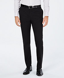 Cole Haan Men's Grand.OS Wearable Technology Slim-Fit Stretch Solid Suit Pants