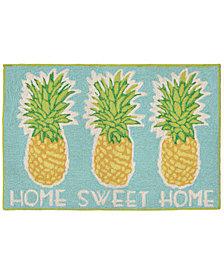 "Liora Manne Front Porch Indoor/Outdoor Home Sweet Home Aqua 2'6"" x 4' Area Rug"