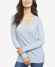 Motherhood Maternity Nursing Henley Shirt